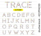 a z rounded uppercase trace... | Shutterstock .eps vector #421994233