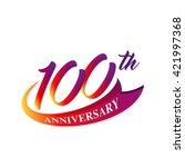 anniversary emblems 100...   Shutterstock .eps vector #421997368