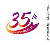 anniversary emblems 35... | Shutterstock .eps vector #421997488