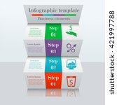 3d ladder infographic template. ...   Shutterstock .eps vector #421997788