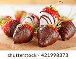 Fresh Strawberries Dipped In...
