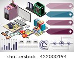 illustration of info graphic... | Shutterstock .eps vector #422000194
