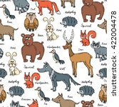 vector seamless pattern with... | Shutterstock .eps vector #422004478