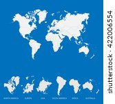 world map and continents map.... | Shutterstock .eps vector #422006554