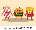 cartoon image of hamburger ... | Shutterstock .eps vector #422010253