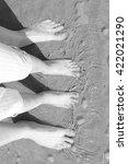 feet in sand | Shutterstock . vector #422021290