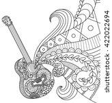 doodles design of guitar for... | Shutterstock .eps vector #422022694