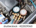car air conditioner check... | Shutterstock . vector #422029363