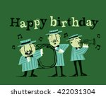 happy birthday musicians...   Shutterstock .eps vector #422031304