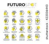 stroke line icons set of human... | Shutterstock .eps vector #422036443