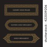 eastern gold frame arabic...   Shutterstock .eps vector #422039206