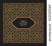 eastern gold frame arabic...   Shutterstock .eps vector #422039269