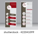 roll up banner stand template.... | Shutterstock .eps vector #422041099