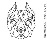 pitbull icon. abstract...   Shutterstock .eps vector #422047744