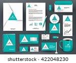 professional universal green... | Shutterstock .eps vector #422048230