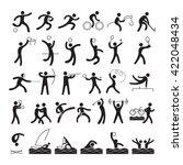 sports athletes  symbol set ... | Shutterstock .eps vector #422048434