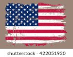grunge usa flag.vector american ... | Shutterstock .eps vector #422051920