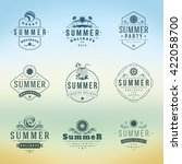 summer holidays typography... | Shutterstock .eps vector #422058700