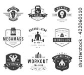 fitness logos templates set.... | Shutterstock .eps vector #422060110