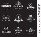 car service logos templates set.... | Shutterstock .eps vector #422060953