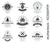 nautical logos templates set.... | Shutterstock .eps vector #422060959