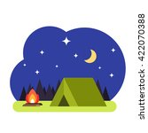 a night landscape with tent ... | Shutterstock .eps vector #422070388