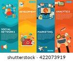 flat vertical vector concept... | Shutterstock .eps vector #422073919