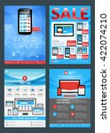 set of business flyer design... | Shutterstock .eps vector #422074210