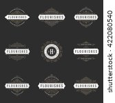 royal logos design templates... | Shutterstock .eps vector #422080540