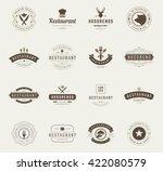 vintage restaurant logos design ... | Shutterstock .eps vector #422080579