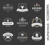 vintage logos design templates... | Shutterstock .eps vector #422080594
