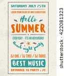 beach party flyer or poster.... | Shutterstock .eps vector #422081323