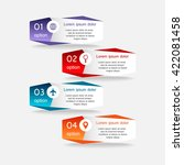 colorful infographics template... | Shutterstock .eps vector #422081458