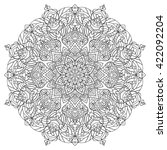 mandala  coloring book for... | Shutterstock .eps vector #422092204