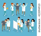 flat 3d isometric medical... | Shutterstock .eps vector #422094913
