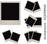 retro photo frame isolated on... | Shutterstock . vector #422098960