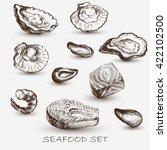 illustration ink seafood... | Shutterstock .eps vector #422102500