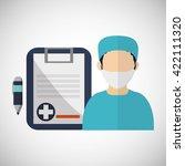 medical care design. health... | Shutterstock .eps vector #422111320