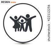 happy family icon in simple... | Shutterstock .eps vector #422112256