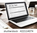 online web job application form ... | Shutterstock . vector #422114074
