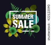summer sale card with elements... | Shutterstock .eps vector #422122090