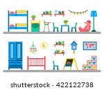 set of elements for kids room... | Shutterstock .eps vector #422122738