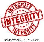 integrity. stamp   Shutterstock .eps vector #422124544