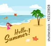 children summertime vacation... | Shutterstock .eps vector #422125828
