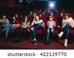 the guy in the theater talking... | Shutterstock . vector #422129770