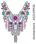 neck embroidery in vector. | Shutterstock .eps vector #422129926