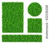 green grass vector banners set. ... | Shutterstock .eps vector #422130268