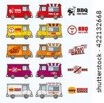 food trucks vector set.  | Shutterstock .eps vector #422132668