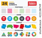 banner tags  stickers and chart ... | Shutterstock .eps vector #422138749