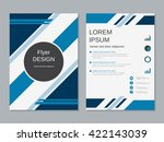 professional business flyer... | Shutterstock .eps vector #422143039